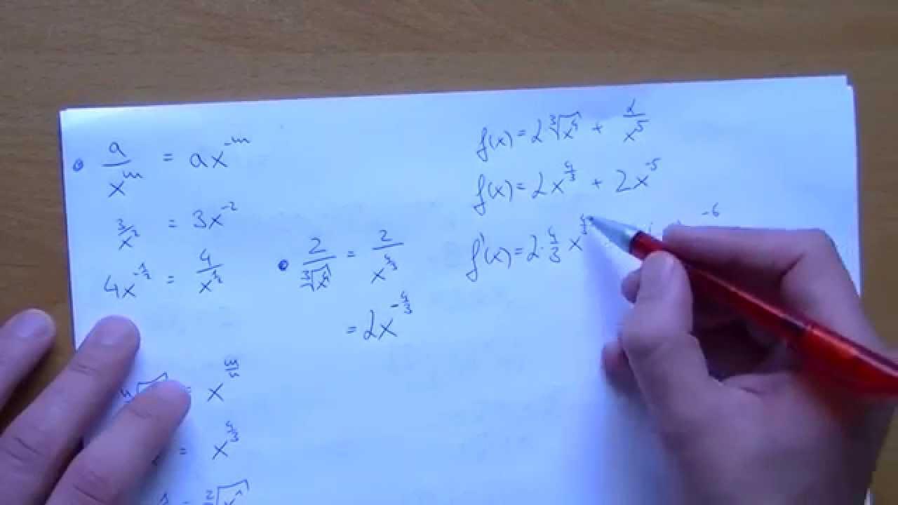 Funktionen ableiten - Potenzregel, Summenregel, Faktorregel [Old ...