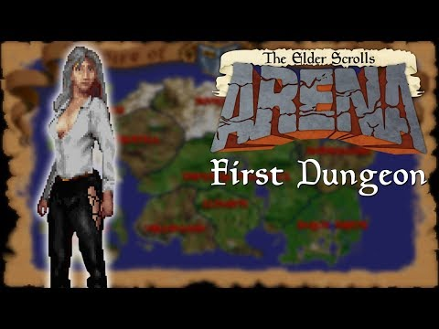 The Elder Scrolls: Arena - Beating The First Dungeon