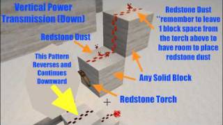 Redstone: Back to Basics - Episode 2 - Vertical Redstone Wiring (up and down)