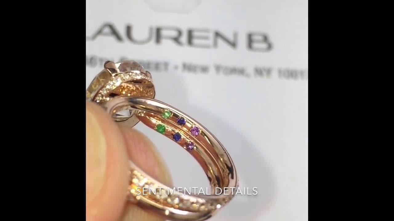 2 Carat Oval Moissanite Engagement Ring + Wedding Band