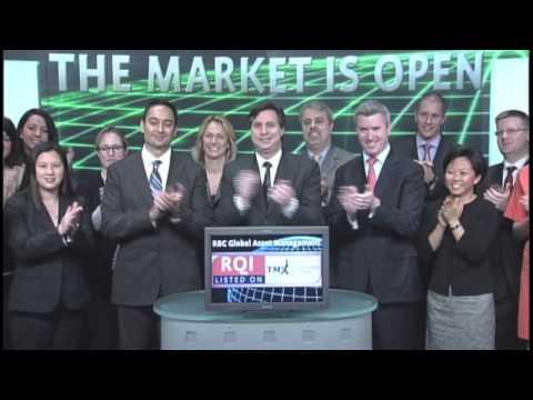 RBC Global Asset Management (RQI:TSX) opens Toronto Stock Exchange, October 17, 2012.