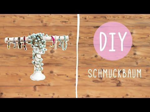 DIY Schmuckbaum – Schmuck Aufbewahrung selber machen