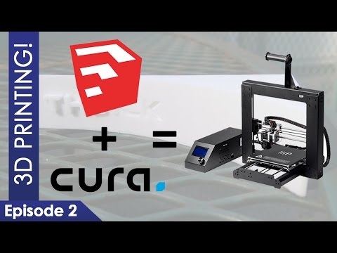 3D Printing with Monoprice Maker Select V2 - Episode 2 | SketchUp + Cura = New Model!