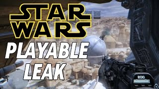 Cancelled Star Wars Game Playable Leak! (Star Wars First Assault)