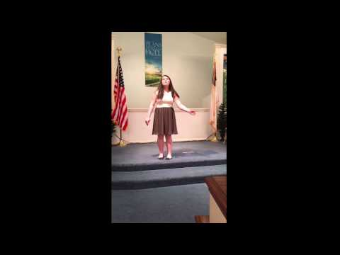 Gaby Onorati Monologue Election - WIS Productions Spring Cabaret - April 2017