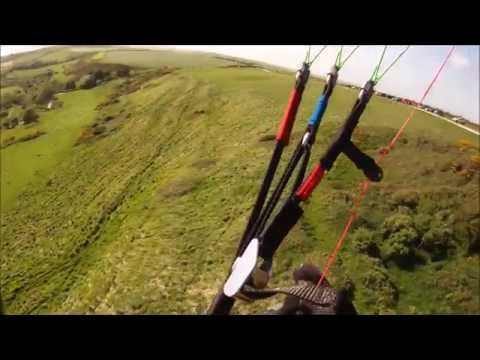 Little Cloud Spiruline EZ, 16m - Learning to launch and fly, 0 to 25mph winds.