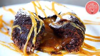 Salted Caramel Chocolate Lava Cake Recipe | Шоколадные кексы с карамельной начинкой