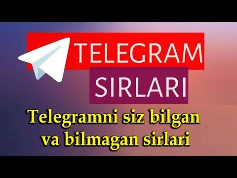 Telegramning Siz Bilgan Bilmagan Sirlari