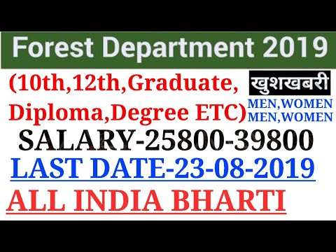 Forest Department Recruitment 2020|Forest Vacancy 2020|Latest Govt Jobs 2020|Govt Jobs August 2019