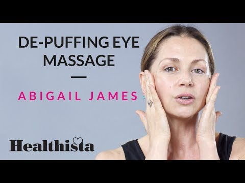 How to get rid of puffy eyes with face massage – expert video