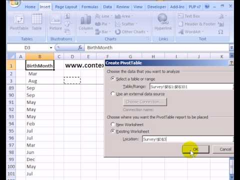 Quickly Count Duplicates in Excel List With Pivot Table