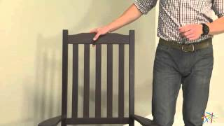 Coral Coast Indoor/outdoor Mission Slat Rocking Chair - Dark Brown - Product Review Video