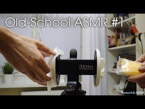 Old-School ASMR #1   3Dio Pure Binaural Sounds (No Talking)