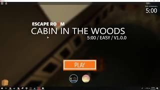 Roblox Escape Room - Cabin In The Woods Walkthrough