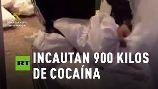La Guardia Civil incauta 900 kg. de cocaína en España