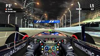 F1 2011 (PC) Singapore Pole Lap with Martin Brundle
