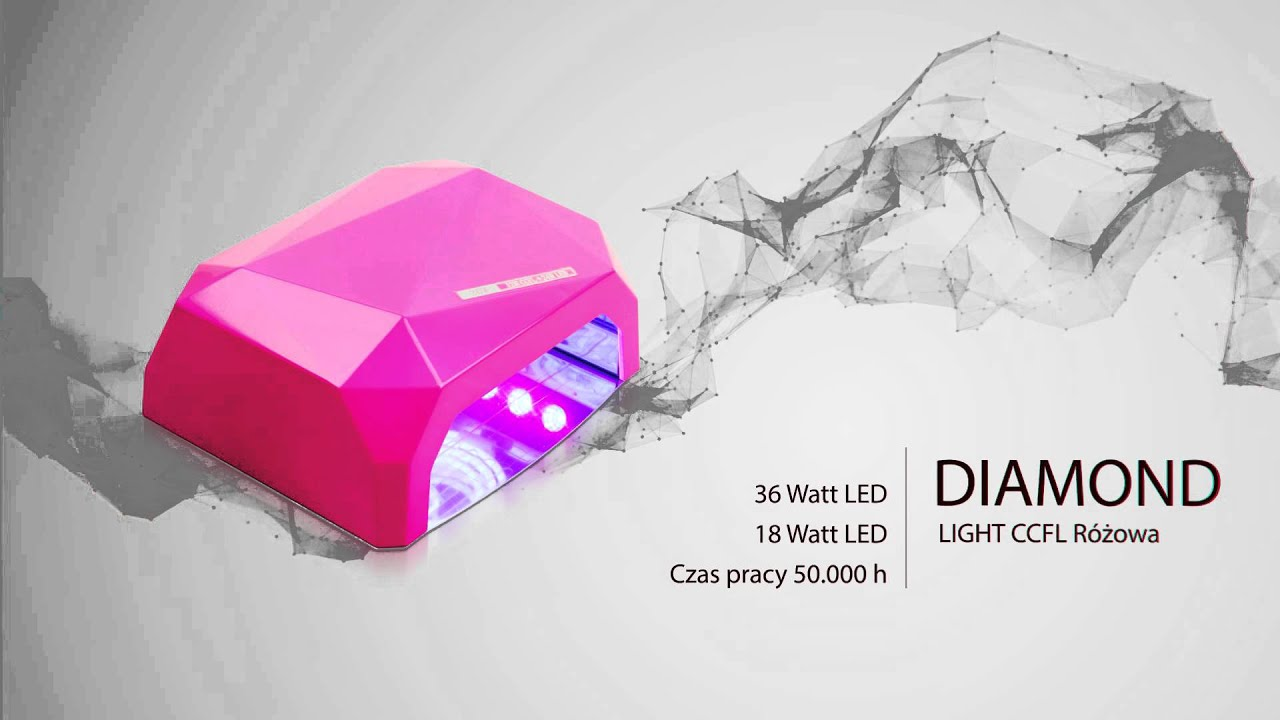 UV LED Nails Lamp Diamond New Model by HKHF.pl - YouTube