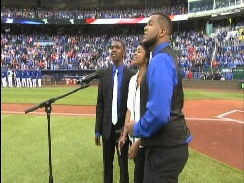 America's Got Talent Finalists Voices of Glory  Performing The National Anthem