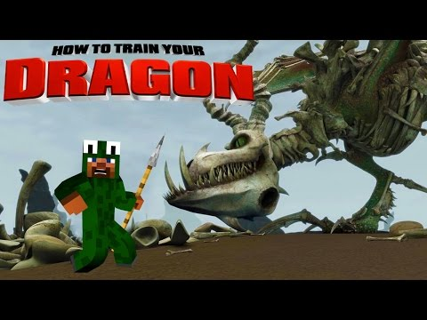 Minecraft - HOW TO TRAIN YOUR DRAGON 2 - [6] 'Boneknapper Island?' fragman