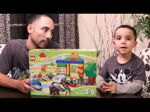 Lego Duplo; My First Zoo: Unboxing and Building - YouTube