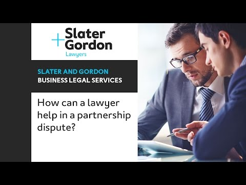 How can a lawyer help in a partnership dispute?