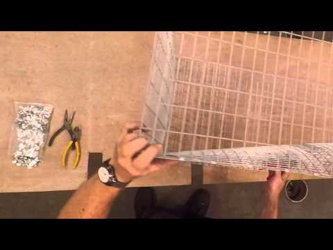 How to build all wire rabbit cages part 2 assembli