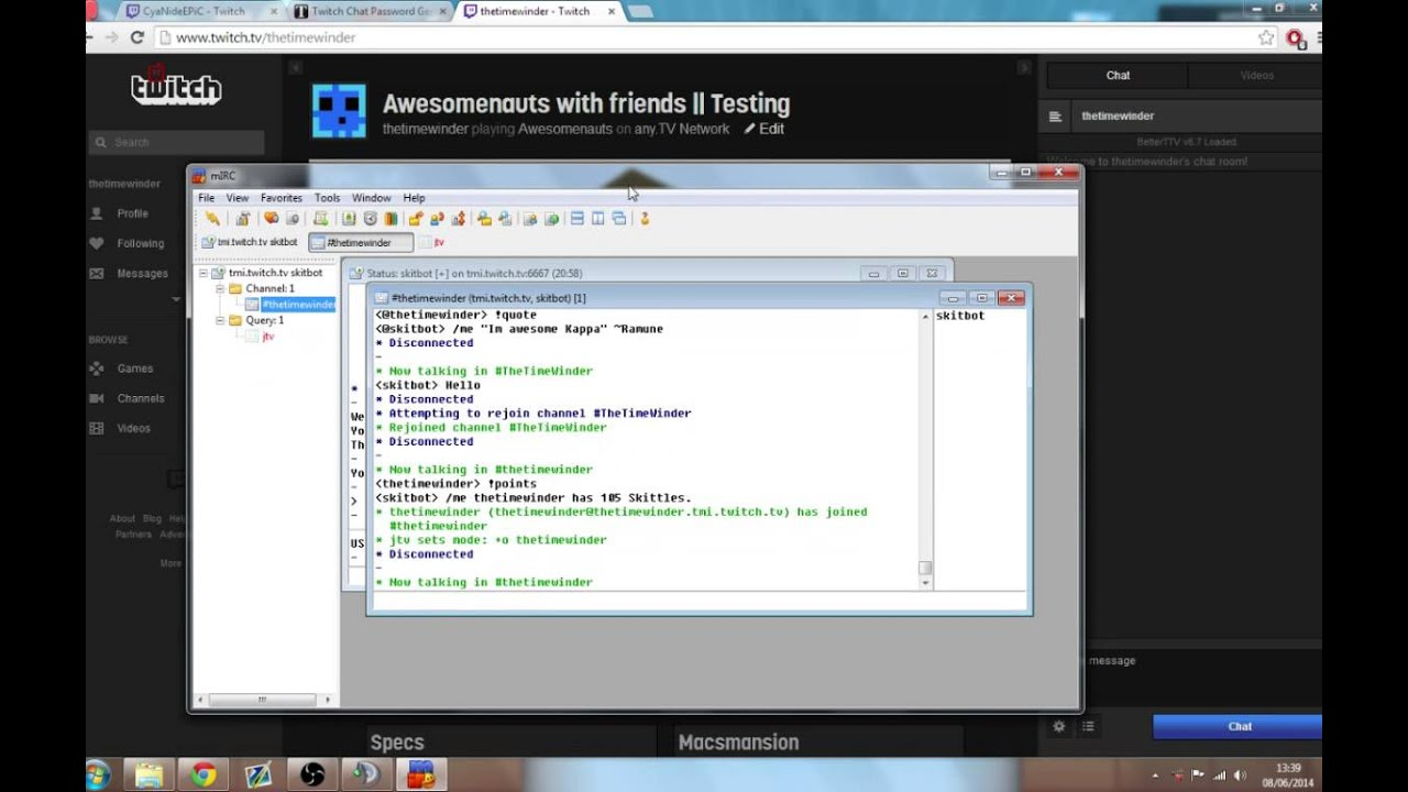 TwitchTV Chat Bot -