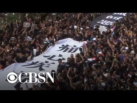 China's state media spreads false information about Hong Kong protests