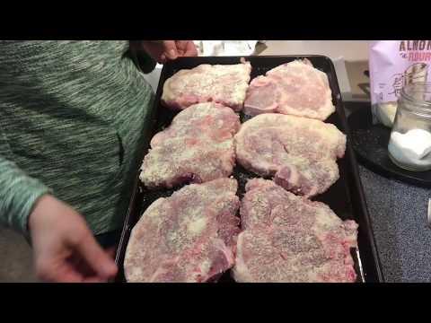 Gluten Free Paleo Keto Oven Fried Pork Chops!!