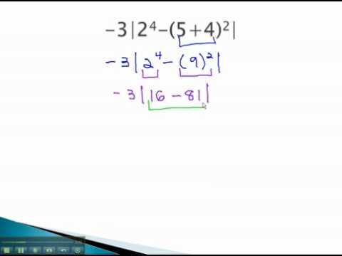 Order Of Operations - Absolute Value - Youtube.Mp4 - Youtube