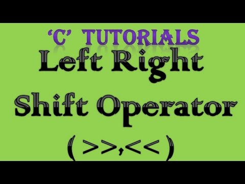 C Programming Tutorial   13 Left Right Shift Operator