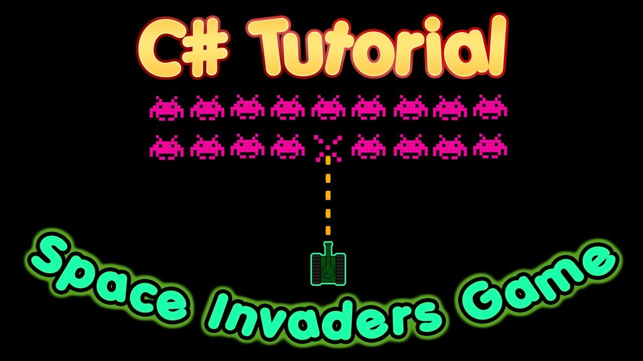 C# Tutorial – Create a full space invaders game using Visual