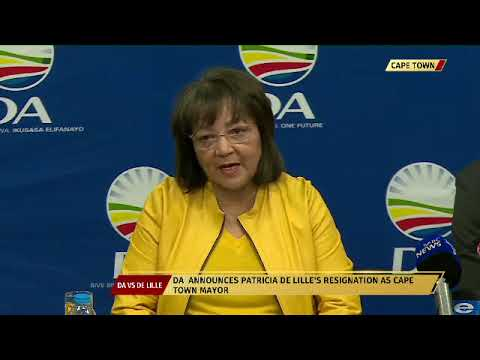 Patricia De Lille resigns as Mayor of Cape Town