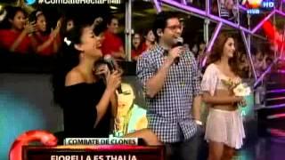 Fiorella Chirichigno y Melissa Gustavson imitaron a Thalía thumbnail