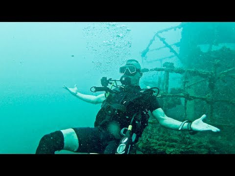 Scuba Diving A Ship Wreck In Koh Chang Thailand - HTMS Chang
