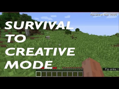 How To Switch From Survival To Creative Mode In Minecraft
