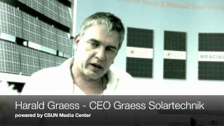 CSUN Solar Energy Interviews: Harald Graess - CEO Graess Solartechnik