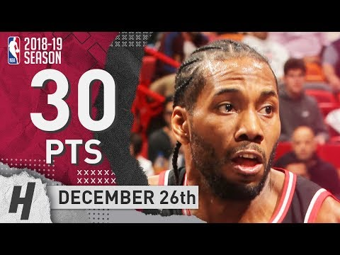 Kawhi Leonard Full Highlights Raptors vs Heat 2018.12.26 - 30 Pts, 2 Ast, 8 Rebounds!