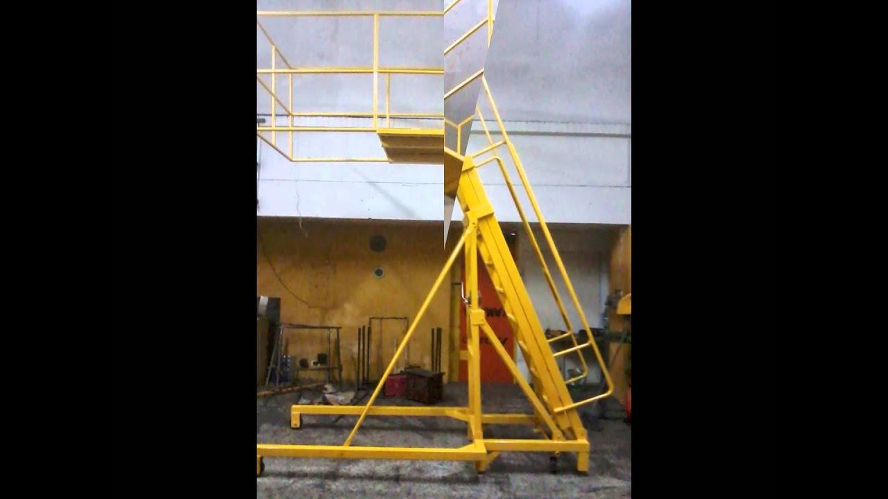 Escaleras para bodega youtube for Tipos de escaleras