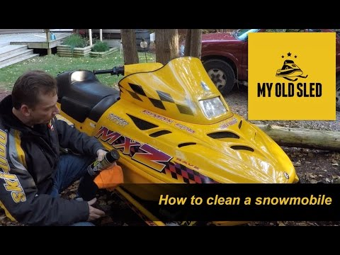 How to clean a snowmobile