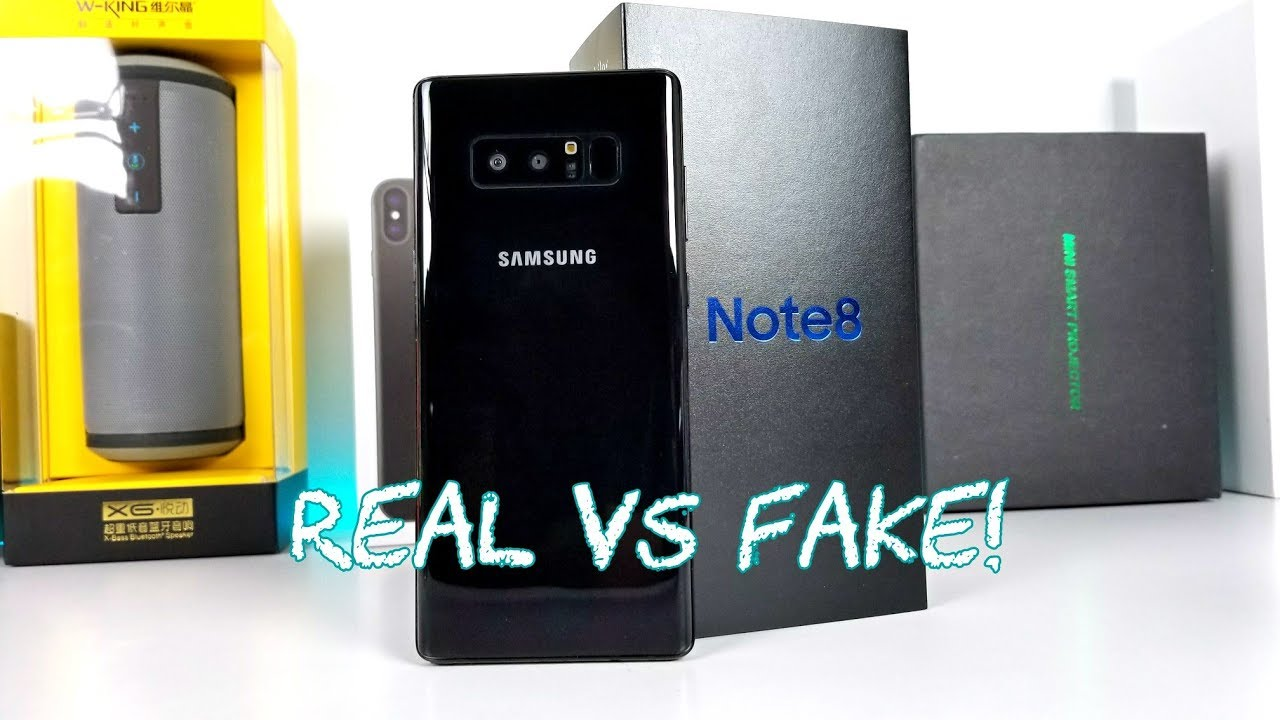 a717f61e24c Goophone Note 8 VS Real Galaxy Note 8 - Unboxing   Comparison! - YouTube