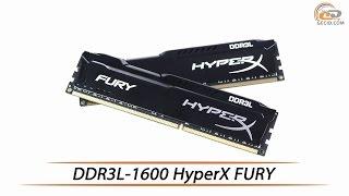 HyperX FURY DDR3L-1600 - обзор комплекта ОЗУ объемом 16 ГБ
