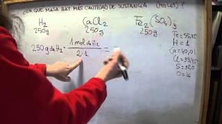 FÍS-QUÍM 3º E.S.O: Comparando masas. Cómo hallar la cantidad de sustancia de una masa.