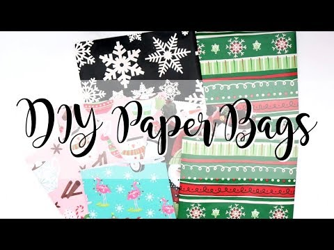 DIY Paper Bags | Wrapping Paper Hack | 12 Days of Christmas 2018-Day10 | Serena Bee Creative
