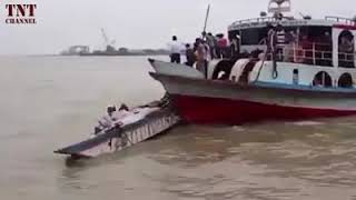 an accident in sea