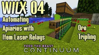 04 - Automating Apiaries with Item Laser Relays, Ore Tripling - FTB Continuum