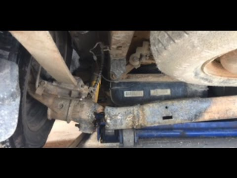 Replacing Axle Beam On 02 Chrysler Voyager Youtube