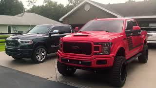 2019 Ram limited 35/12.5/24 vs 2018 Ford F-150 lifted special edition 325/50/22
