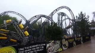 the smiler world first 14 looping roller coaster complete ride