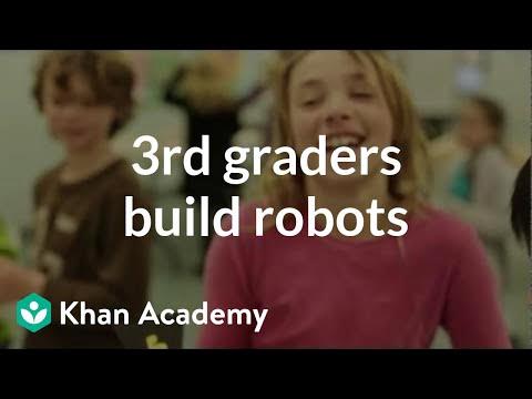 3rd graders build robots at Santa Rita Elementary School | Electrical engineering | Khan Academy